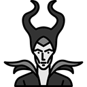 Avatar, halloween, horror, Terror, witch, spooky, scary, fear Black icon