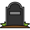 halloween, horror, Terror, Cemetery, Rip, spooky, scary, fear, tombstone DarkSlateGray icon
