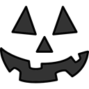 halloween, pumpkin, horror, Terror, spooky, scary, fear Black icon