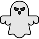Ghost, halloween, horror, Terror, spooky, scary, fear Gainsboro icon