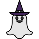Terror, spooky, scary, fear, Ghost, halloween, horror Black icon