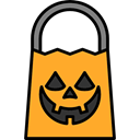 fear, Bag, halloween, horror, Terror, spooky, scary Black icon