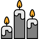 miscellaneous, light, Candle, illumination, Candles, candlestick, Tools And Utensils Black icon