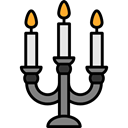 candelabra, miscellaneous, light, illumination Black icon