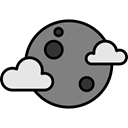 Astronomy, full moon, Moon Phase, Moon, weather, nature, meteorology Black icon