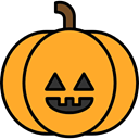 Terror, spooky, scary, fear, halloween, pumpkin, horror Goldenrod icon