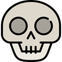 skull, halloween, horror, Terror, spooky, scary, fear LightGray icon