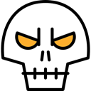 skull, halloween, horror, Terror, spooky, scary, fear Black icon