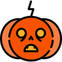 halloween, pumpkin, horror, Terror, spooky, scary, fear OrangeRed icon