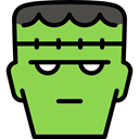 halloween, frankenstein, horror, Terror, spooky, scary, fear YellowGreen icon