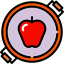 Apple, organic, diet, vegetarian, vegan, Healthy Food, Food And Restaurant, food, Fruit Thistle icon