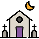 halloween, horror, Terror, spooky, scary, fear, haunted house Black icon
