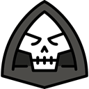 Terror, spooky, scary, fear, death, halloween, horror DarkSlateGray icon