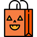 Bag, halloween, horror, Terror, spooky, scary, fear Coral icon