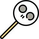 sweet, Lollipop, Food And Restaurant, food, halloween, sugar, Dessert Black icon