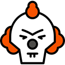 Avatar, halloween, horror, Clown, Terror, spooky, scary, fear Black icon