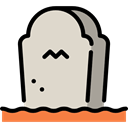 Rip, tomb, tombstone, death, halloween, Stone, Cemetery LightGray icon