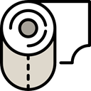 miscellaneous, bathroom, toilet paper, hygiene LightGray icon