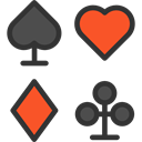 poker, Hearts, gaming, Spades, Diamonds, Casino, Bet, Clubs, gambling DarkSlateGray icon