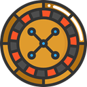 gaming, Casino, Bet, roulette, gambling DarkSlateGray icon