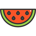 food, Fruit, organic, watermelon, diet, vegetarian, vegan, Healthy Food, Food And Restaurant Black icon