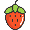 food, Fruit, strawberry, organic, diet, vegetarian, vegan, Healthy Food, Food And Restaurant Icon