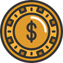 Bet, gambling, Chip, gaming, Casino Goldenrod icon