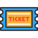 pass, show, Ticket, travel, tickets, entertainment DarkSlateGray icon