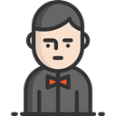 people, user, Avatar, job, Man, Casino, gambling, profession, Elegant, Occupation, Croupier, Professions And Jobs Icon