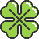 Leaf, nature, garden, Clover, plant, shamrock, irish, Botanical, Saint Patrick, Good Luck YellowGreen icon