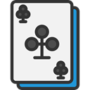 gambling, gaming, Casino, Bet, Clubs, Cards, poker WhiteSmoke icon
