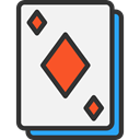 gambling, Cards, poker, gaming, Diamonds, Casino, Bet WhiteSmoke icon