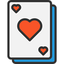 gambling, Hearts, gaming, Casino, Bet, Cards, poker WhiteSmoke icon