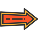 Orientation, Direction, right arrow, Arrows, Arrow Black icon