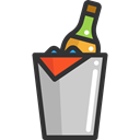 Celebration, Alcoholic Drinks, Food And Restaurant, Alcohol, Bucket, food, champagne Black icon