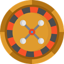 gaming, Casino, Bet, roulette, gambling Goldenrod icon
