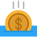 gaming, coin, Casino, Bet, gambling Goldenrod icon