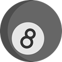 Billiard, Bet, gambling, Sports And Competition, sport, Casino DimGray icon