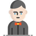 Elegant, Occupation, Croupier, Professions And Jobs, job, Casino, gambling, profession, Man, people, user, Avatar DimGray icon