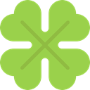 plant, Leaf, irish, Botanical, Saint Patrick, Good Luck, nature, garden, Clover, shamrock YellowGreen icon