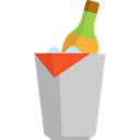 Alcohol, Bucket, food, champagne, Celebration, Alcoholic Drinks, Food And Restaurant Black icon
