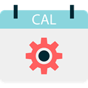 Calendar, time, date, Calendars, Time And Date, Schedule, interface, Administration, Organization WhiteSmoke icon