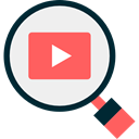 search, magnifying glass, Loupe, video player, Seo And Web WhiteSmoke icon