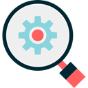 search, magnifying glass, settings, Loupe, optimization, Seo And Web WhiteSmoke icon