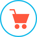 commerce, shopping cart, Supermarket, online store, Shopping Store, Commerce And Shopping Tomato icon
