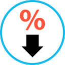 ecommerce, sale, Discount, percentage, Commerce And Shopping DeepSkyBlue icon