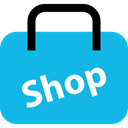 shopping bag, online shop, Commerce And Shopping, ecommerce DeepSkyBlue icon