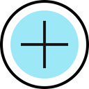 Key, Add, button, plus, maths, Shapes And Symbols PaleTurquoise icon