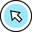 Cursor, Arrows, Arrow, Mouse PaleTurquoise icon