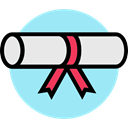 education, degree, diploma, Certification PaleTurquoise icon